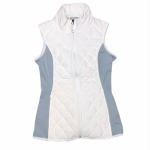 Athleta White & Gray Upside Vest